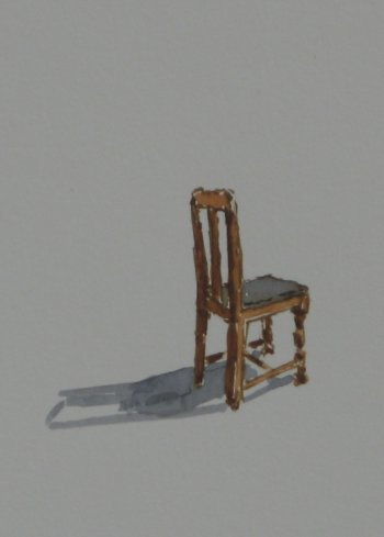 Click the image for a view of: Chair 1 detail. 2008. Watercolour. 420 X 295mm