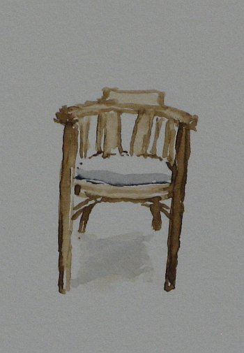 Click the image for a view of: Chair 2 detail. 2008. Watercolour. 420 X 295mm