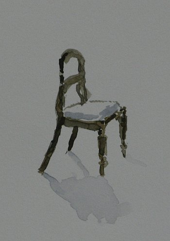 Click the image for a view of: Chair 3 detail. 2008. Watercolour. 420 X 295mm