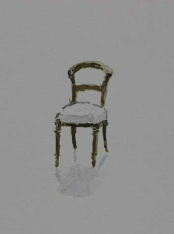 Click the image for a view of: Chair 4 detail. 2008. Watercolour. 420 X 295mm