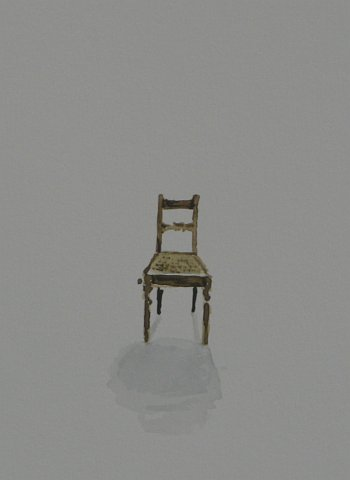 Click the image for a view of: Chair 5 detail. 2008. Watercolour. 420 X 295mm