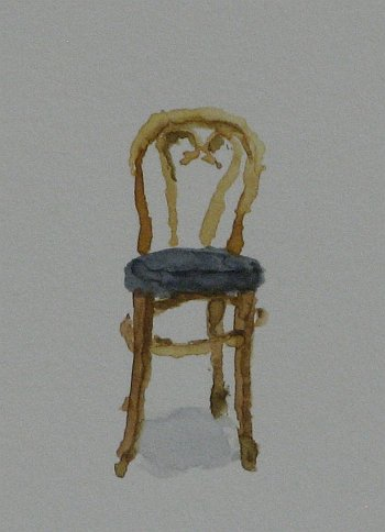 Click the image for a view of: Chair 6 detail. 2008. Watercolour. 420 X 295mm
