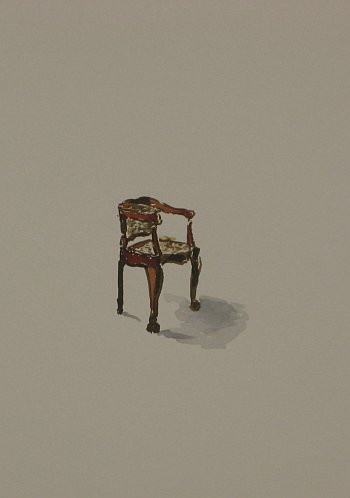 Click the image for a view of: Chair 7 detail. 2008. Watercolour. 420 X 295mm