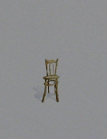 Click the image for a view of: Chair 8 detail. 2008. Watercolour. 420 X 295mm