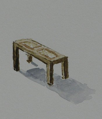 Click the image for a view of: Chair 10 detail. 2008. Watercolour. 420 X 295mm