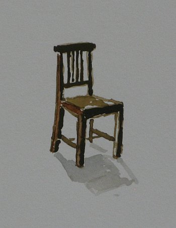 Click the image for a view of: Chair 11 detail. 2008. Watercolour. 420 X 295mm