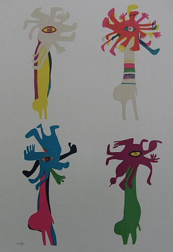 Click the image for a view of: Masks. Silkscreen. Paper size 640X451mm