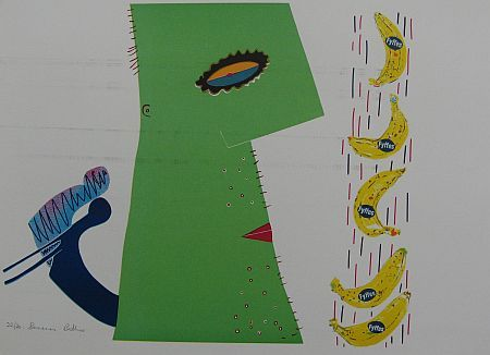 Click the image for a view of: Bananas. Silkscreen. Paper size 440X640mm