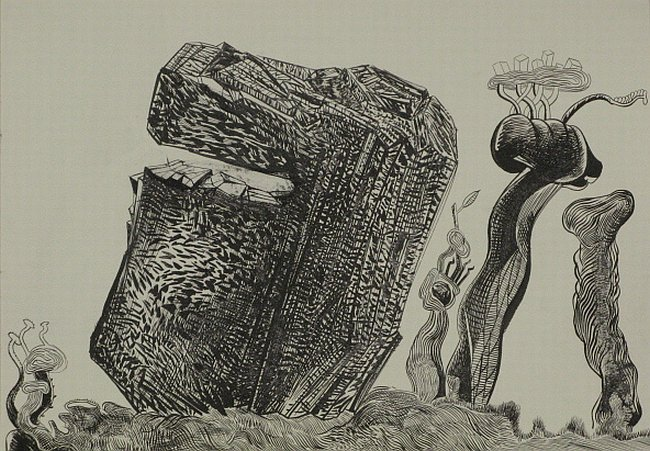 Click the image for a view of: Untitled (Landscape 06). 2008. Pen & Ink. 300 x 420mm