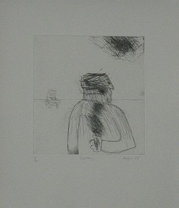 Click the image for a view of: Robert Hodgins. Solitary. 2008. Etching