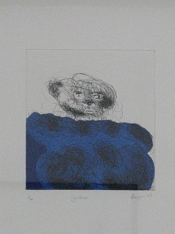 Click the image for a view of: Robert Hodgins. Galleon. 2008. Etching