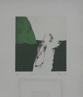 Click the image for a view of: Robert Hodgins. Good tidings to Zion. 2008. Etching