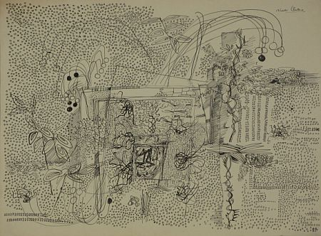 Click the image for a view of: Untitled. Pen & ink. 379X508mm