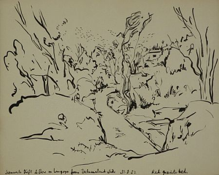 Click the image for a view of: Saamwerk Drift. 1952. Brush & ink. 346X438mm