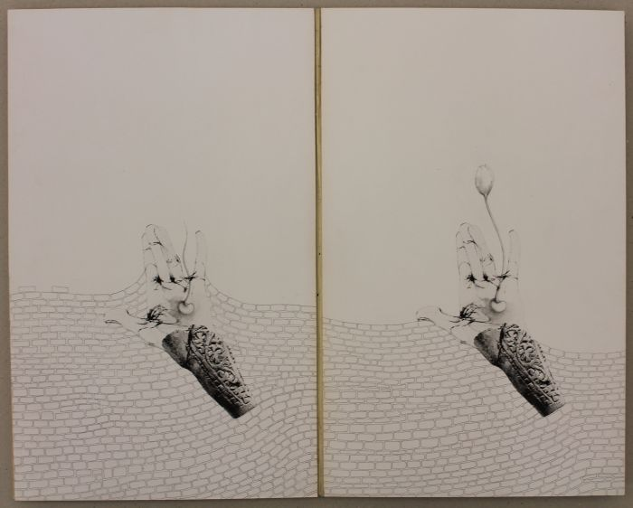 Click the image for a view of: Judith Mason. Resurrection book. Offset lithography, graphite