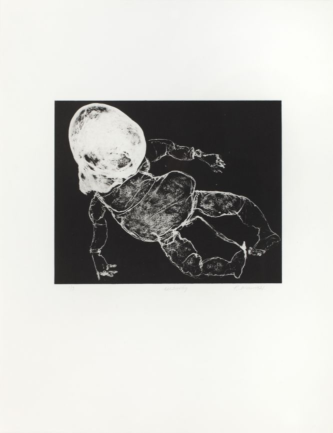Click the image for a view of: Rosemarie Marriott. eiesoortig. 2015. Edition 3. polymer etching. 650X500mm