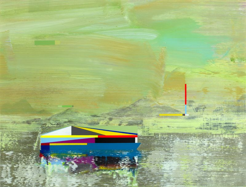 Click the image for a view of: Gunther Herbst. Raft 4. 2014. Acrylic on paper. 310X410mm