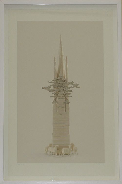 Click the image for a view of: Colin Richards. Ivory Tower. 2009. Digital print. Edition 5. 1030X665mm