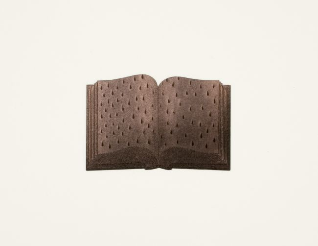 Click the image for a view of: Colin Richards. Book of Tears (Bronze) detail. 2009. Scraperboard on paper. 580X760mm