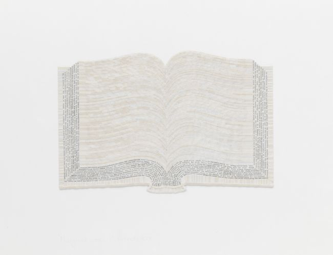 Click the image for a view of: Colin Richards. Marginal Book (detail). 2009. Collage (found text) on paper. 580X760mm. Hollard Contemporary Art Collection