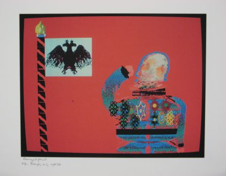 Click the image for a view of: Robert Hodgins. Officers and Gents 7. 1998/2001. Digital print. 10/20. 305X390mm