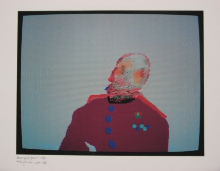 Click the image for a view of: Robert Hodgins. Officers and Gents 2. 1998/2001. Digital print. 10/20. 305X390mm