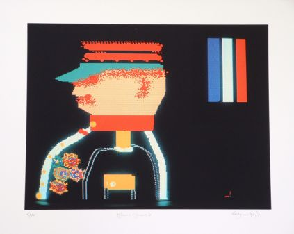 Click the image for a view of: Robert Hodgins. Officers and Gents 6. 1998/2001. Digital print. 10/20. 305X390mm