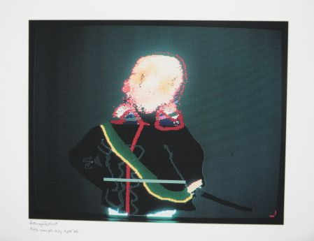 Click the image for a view of: Robert Hodgins. Officers and Gents 4. 1998/2001. Digital print. 10/20. 305X390mm