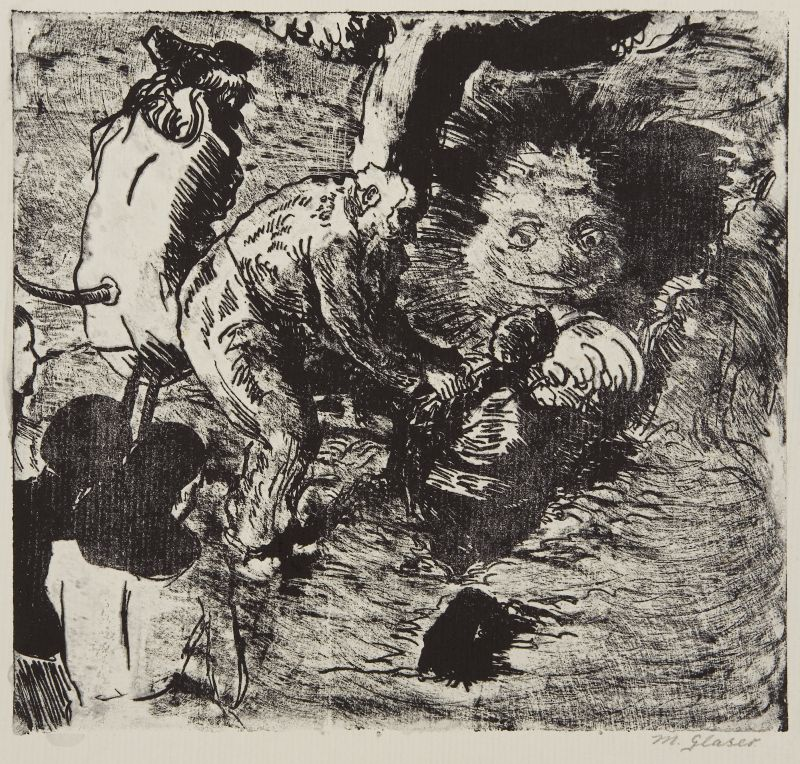 Click the image for a view of: Untitled. Lithograph. Image size 259X279mm