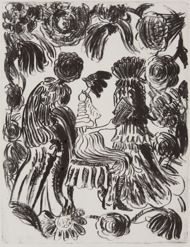 Click the image for a view of: Untitled. Lithograph. Image size 287X222mm