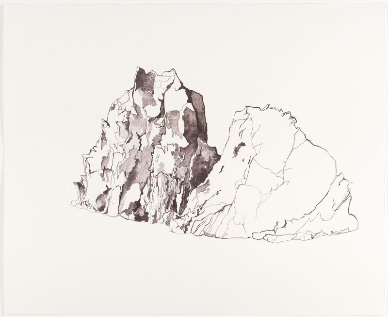 Click the image for a view of: Untitled II (landscape). 2011. Watercolour on paper. 405X500mm