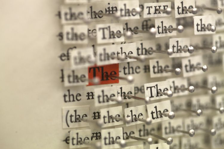 Click the image for a view of: 'the, of, and, to, a' (detail)