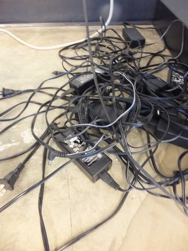 Click the image for a view of: Our Nest of Cables